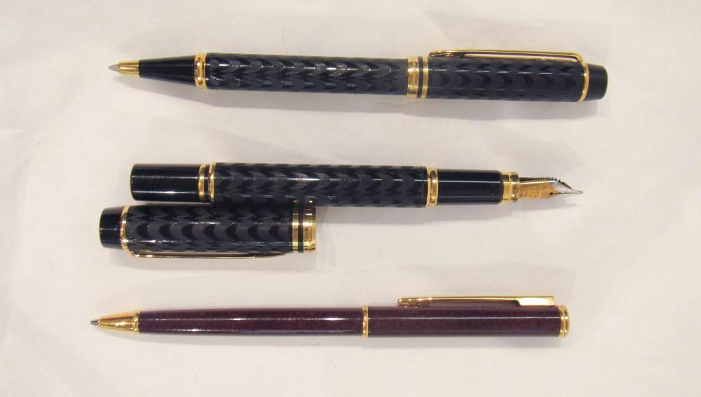 """TWO FRENCH WATERMAN PENS AND A PENCIL:  Waterman """""""