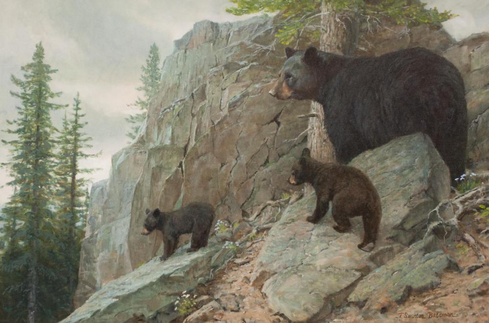 TERRY BATEMAN (Montana, born 1942) oil on canvas,