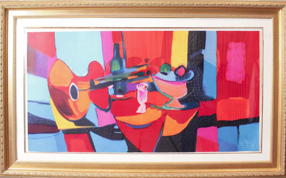 Lot 335: MARCEL MOULY (France, 1918-2008) lithograph, still