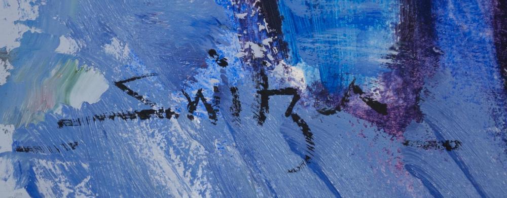 Lot 354: SCOTT SWITZER (Alaska/Montana, born 1960) oil on b