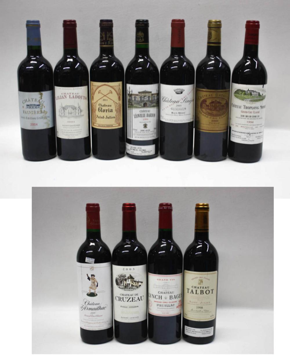 THIRTY-TWO BOTTLES OF VINTAGE FRENCH RED WINE:  20