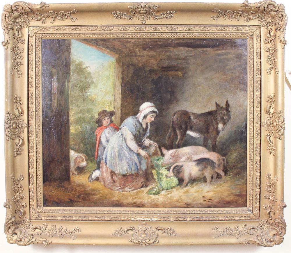 Lot 359: AFTER GEORGE MORLAND (British, 1763-1804) oil on c