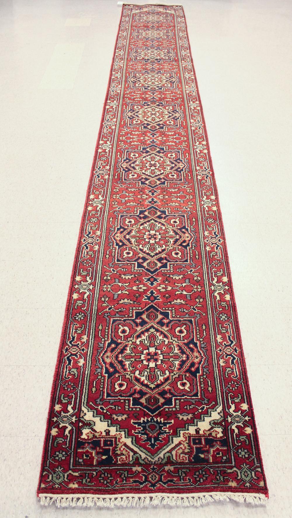 HAND KNOTTED ORIENTAL RUNNER, Persian Serab design