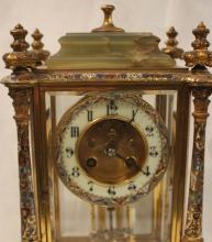 Lot 374: FRENCH CRYSTAL REGULATOR MANTEL CLOCK, Medaille d'