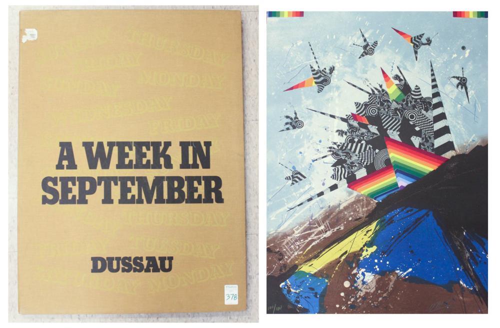 GEORGE DUSSAU (Germany, born 1947) folio of eight