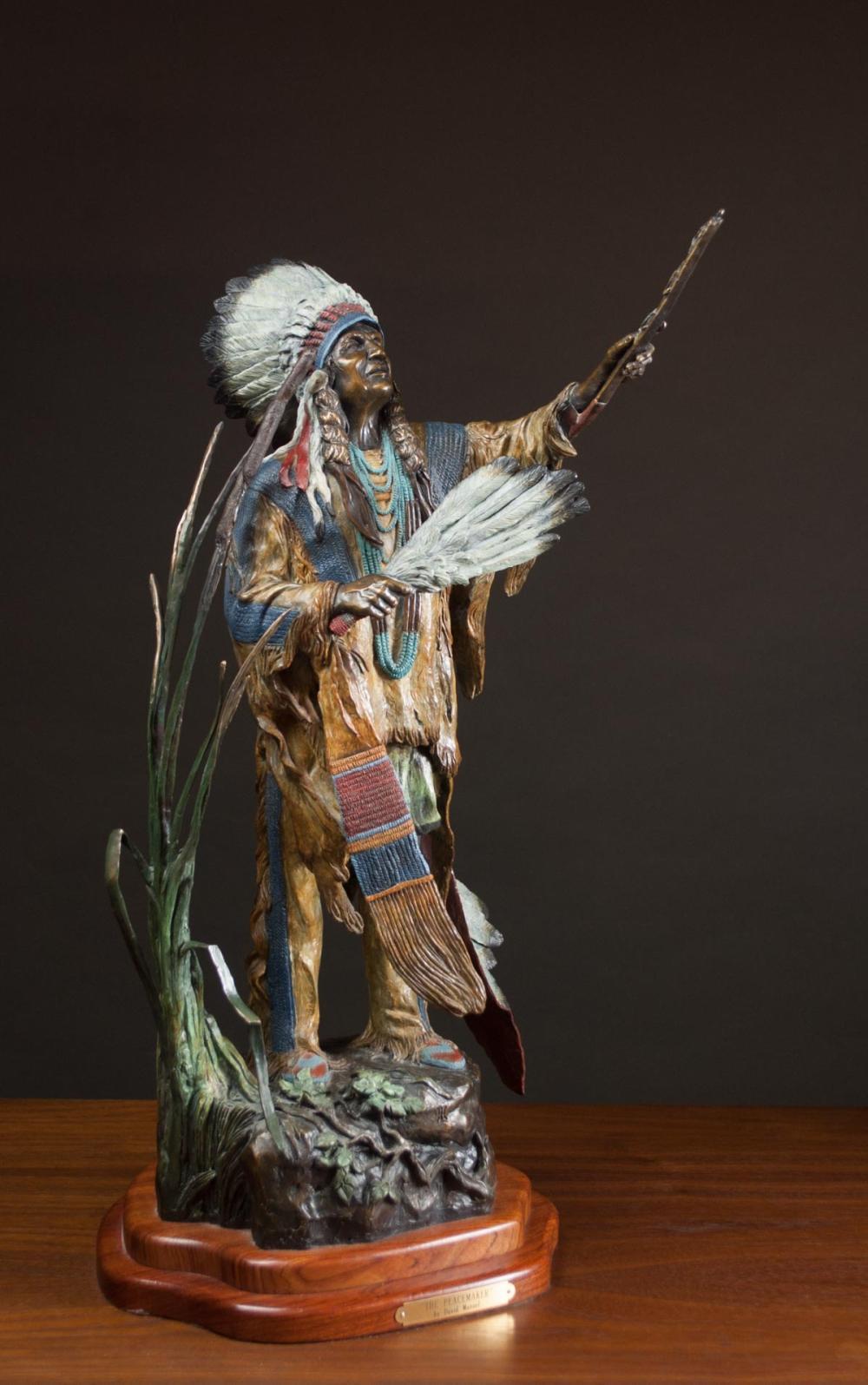 DAVID MANUEL (Oregon, born 1940) bronze sculpture,