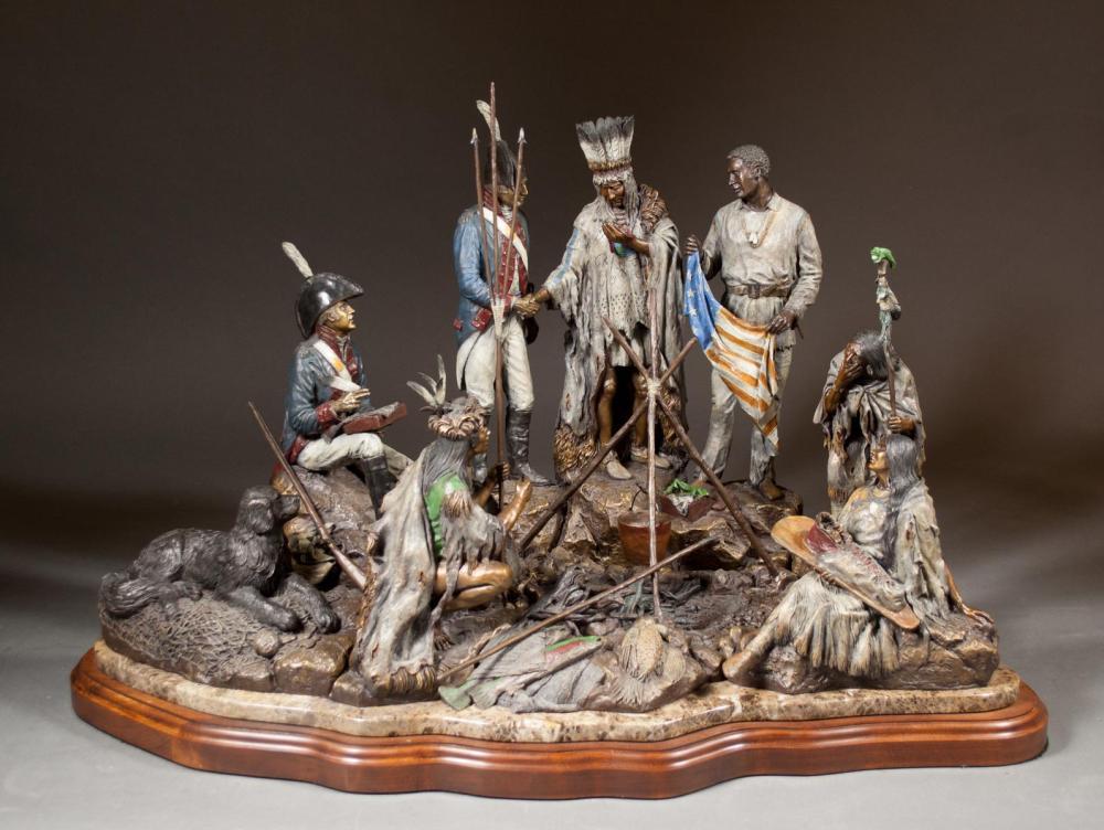 DAVID MANUEL (Oregon, born 1940) bronze sculpture