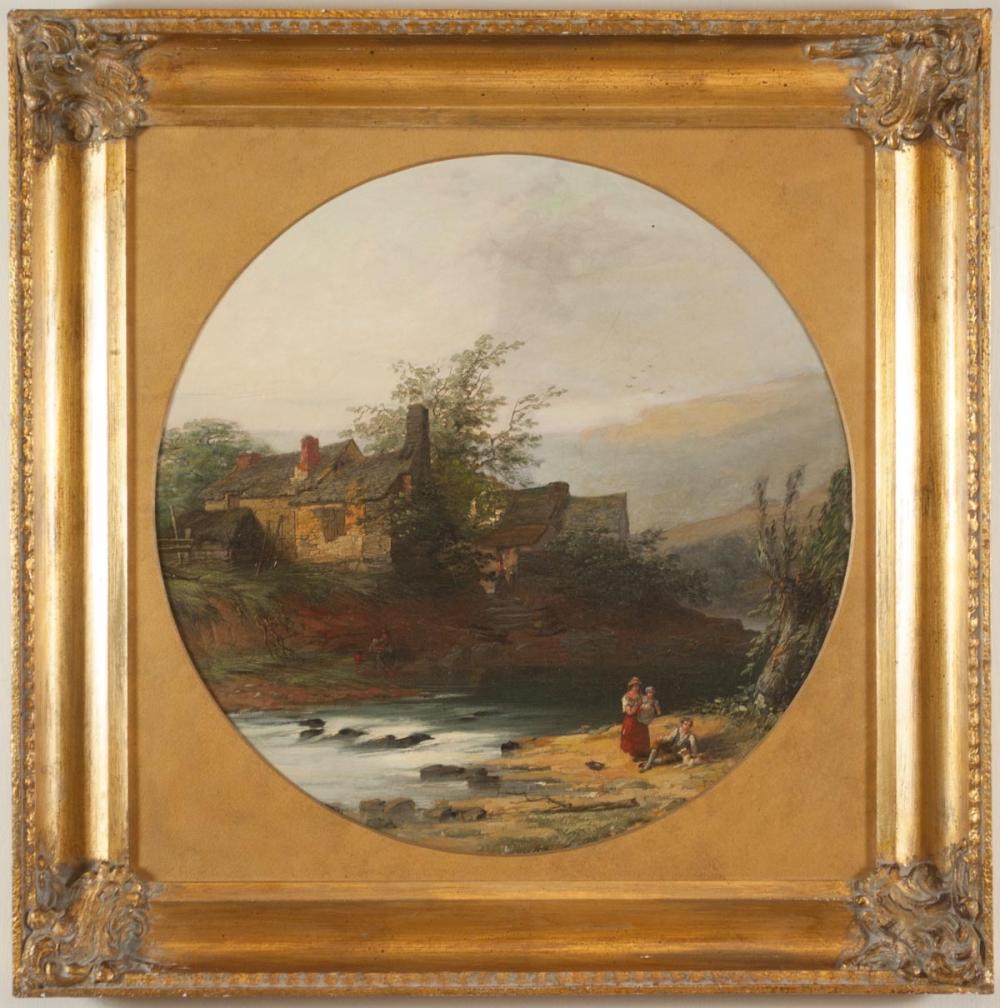 WILLIAM PITT (United Kingdom, 1818-1900) oil on ca
