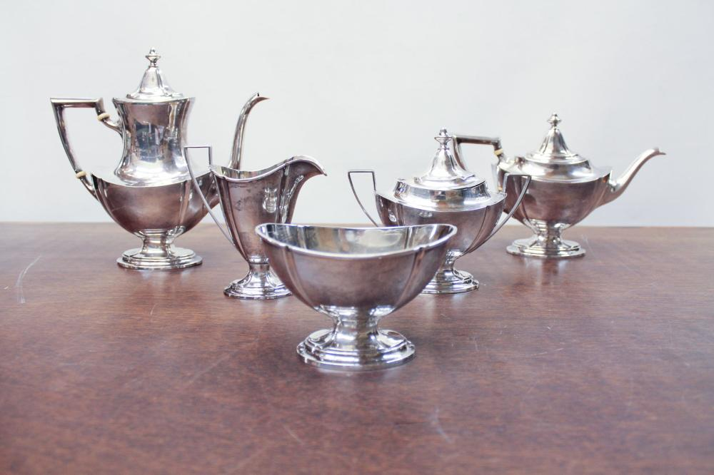 INTERNATIONAL SILVER STERLING COFFEE & TEA SERVICE