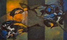 Lot 412: CARL MORRIS (Oregon/California, 1911-1993) acrylic