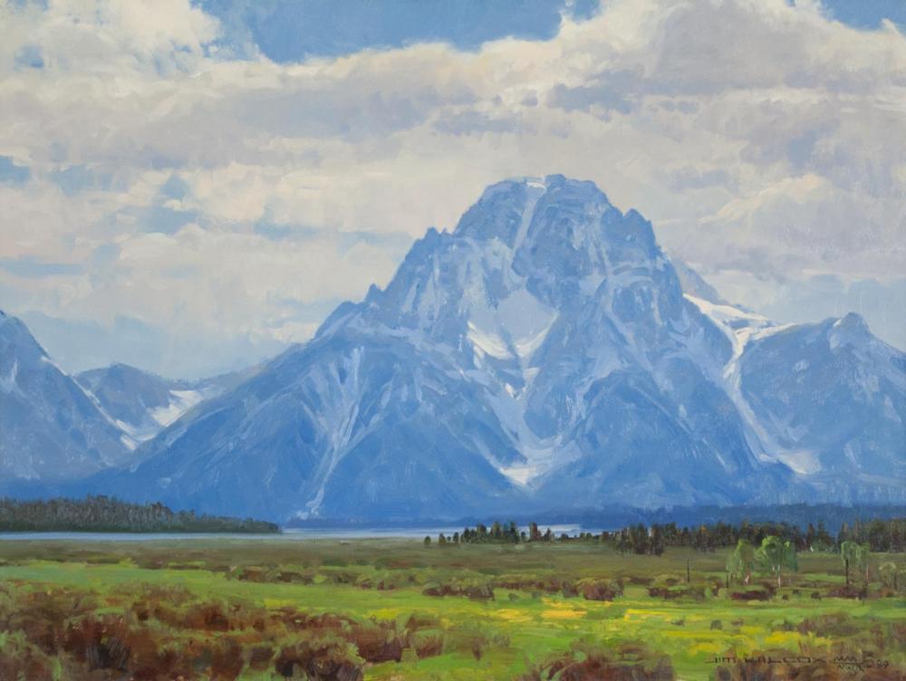 "JIM WILCOX (Wyoming, born 1941) oil on canvas, ""Mo"