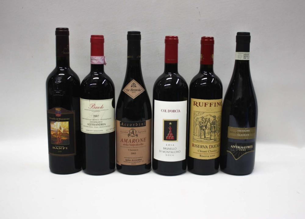 Lot 420: THIRTY-FIVE BOTTLES OF VINTAGE ITALIAN RED WINES: