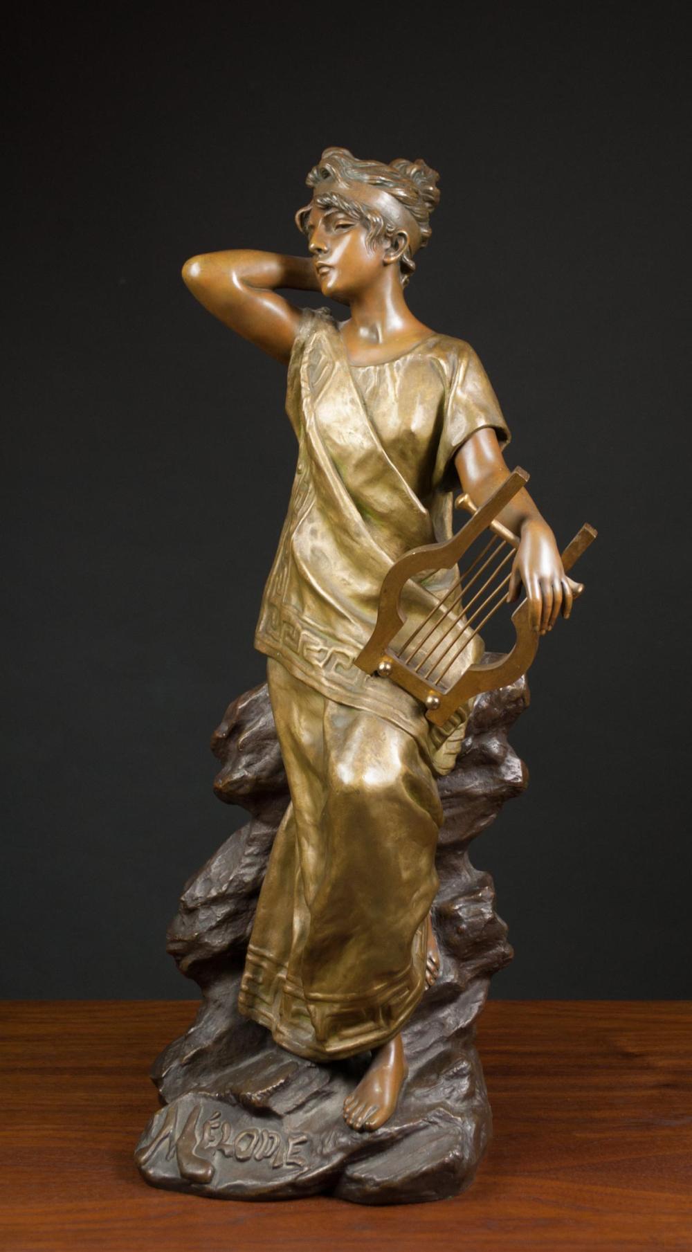 EMMANUEL VILLANIS (France, 1858-1914) bronze sculp