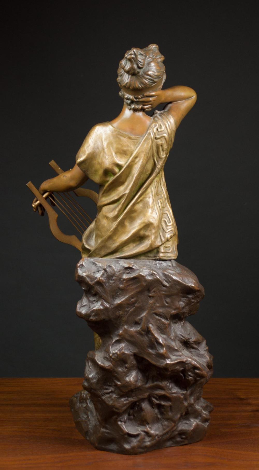 Lot 418: EMMANUEL VILLANIS (France, 1858-1914) bronze sculp