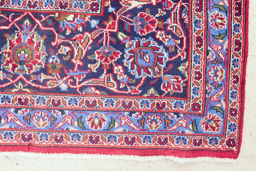 Lot 423: HAND KNOTTED PERSIAN MASHAD CARPET, Razavi Khorass