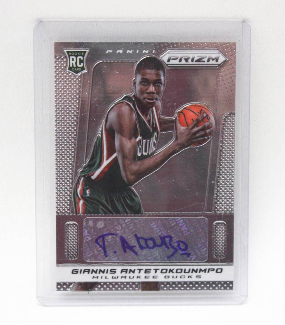 Lot 447: PANINI PRIZM BASKETBALL CARD, number 33, rookie ca