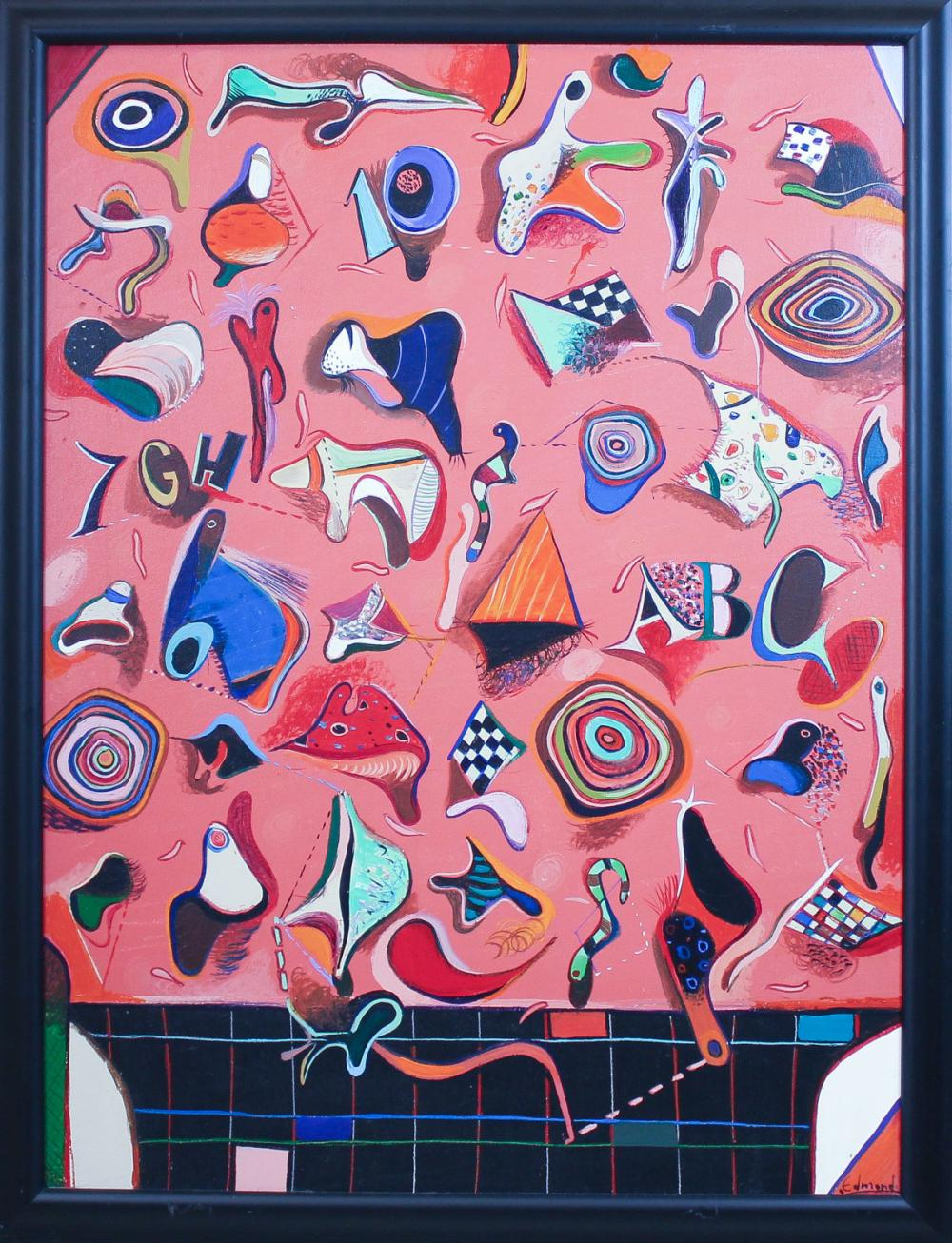 Lot 454: EDMOND DEMIRDJIAN (Bulgaria, 1951-2009) acrylic on