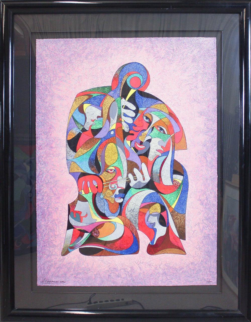ANATOLE KRASNYANSKY (Russia, born 1930) serigraph,