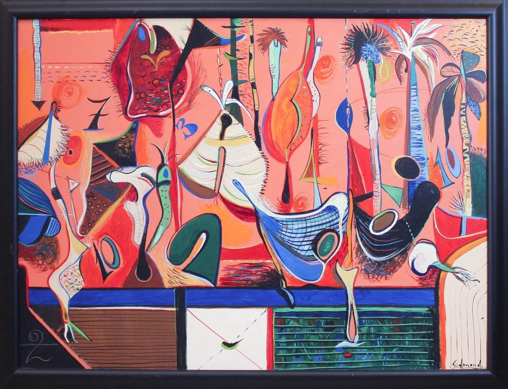 EDMOND DEMIRDJIAN (Bulgaria, 1951-2009) acrylic on