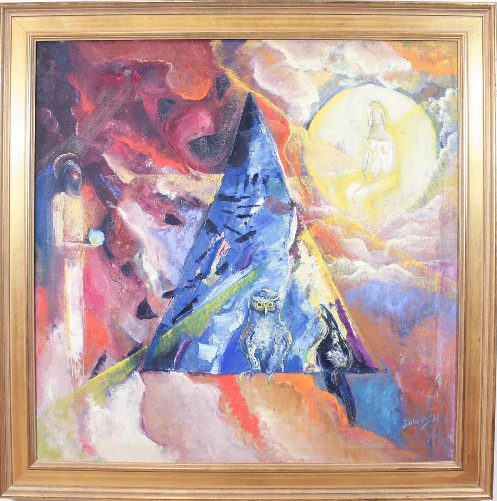 DOLORES DILOVA (Bulgaria, born 1960) oil on canvas