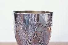 Lot 543: ENGLISH VICTORIAN STERLING SILVER CHALICE, hallmar