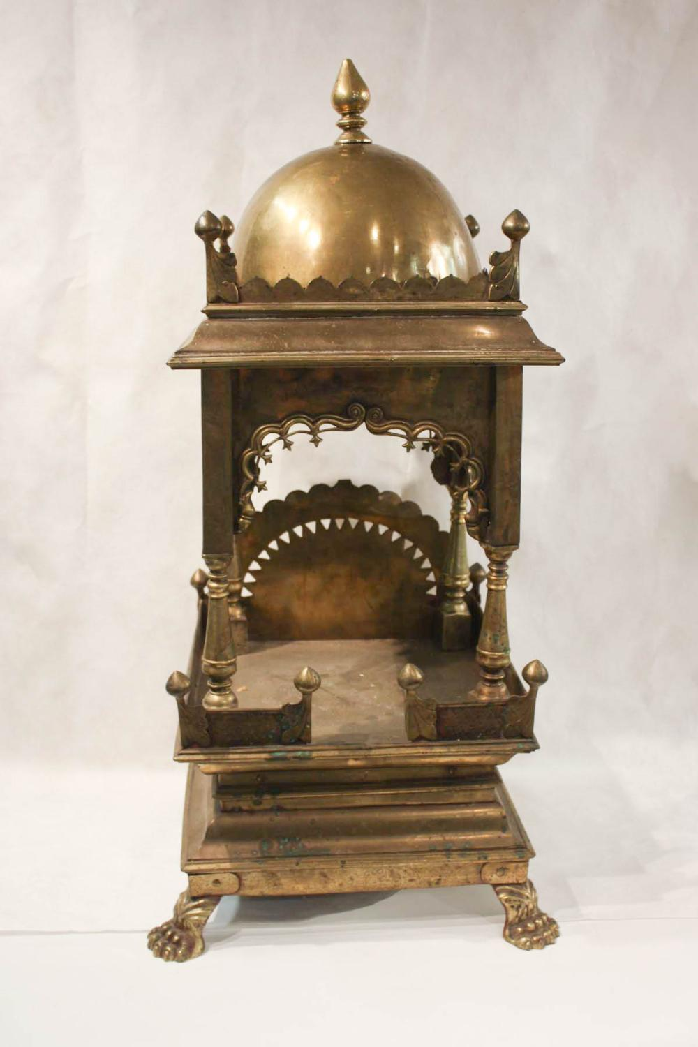 Lot 548: TWO ANGLO-INDIAN BRASS HOME TEMPLE SHRINES, India,