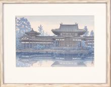 Lot 562: THREE JAPANESE WOODCUTS: after Kawase Hasui (1883