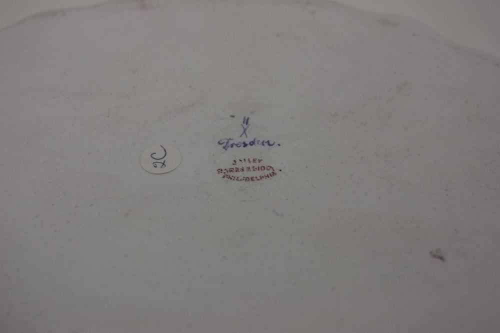 Lot 570: DRESDEN PORCELAIN MINIATURE TEA SET, six pieces by