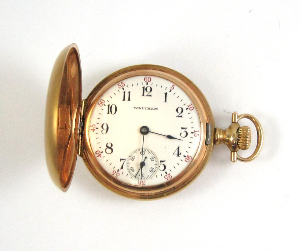 WALTHAM MODEL 1891 SEASIDE GRADE POCKET WATCH, 14k