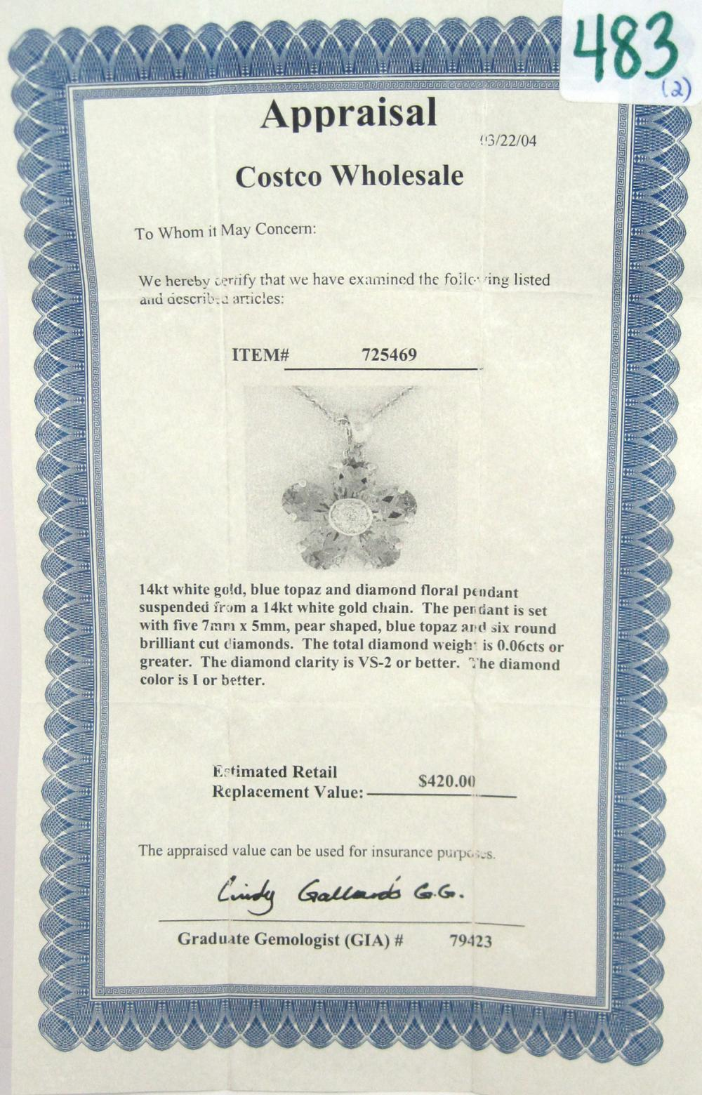 Lot 483: TWO ARTICLES OF DIAMOND AND FOURTEEN KARAT GOLD JE