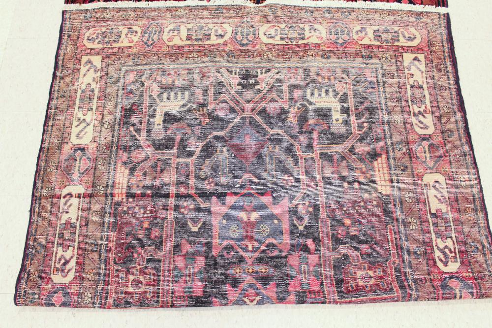 Lot 474: HAND KNOTTED PERSIAN TRIBAL RUG, central medallion
