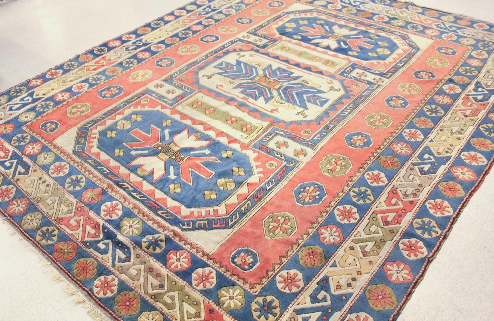 HAND KNOTTED TURKISH CARPET, Caucasian Kazak desig