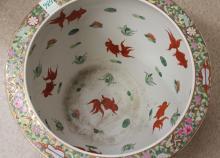 Lot 536: CHINESE PORCELAIN FISH BOWL (PLANTER), the exterio