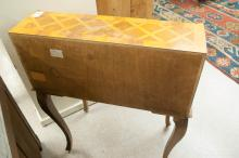 Lot 546: LOUIS XV STYLE SLANT-FRONT PARQUETRY WRITING DESK,