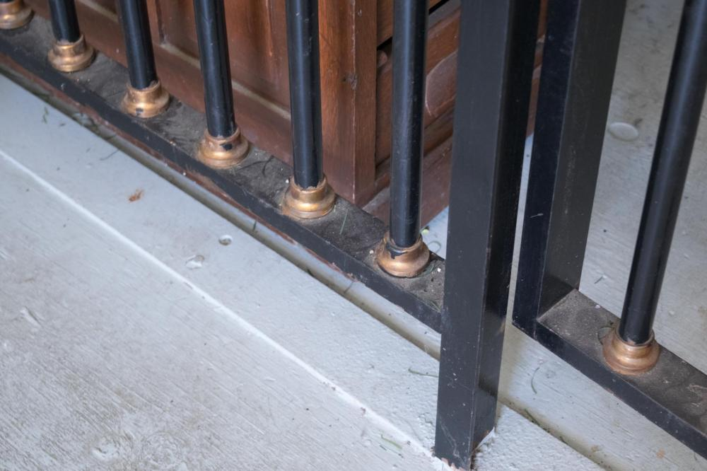 ANTIQUE IRON BANK VAULT BARS AND GATE