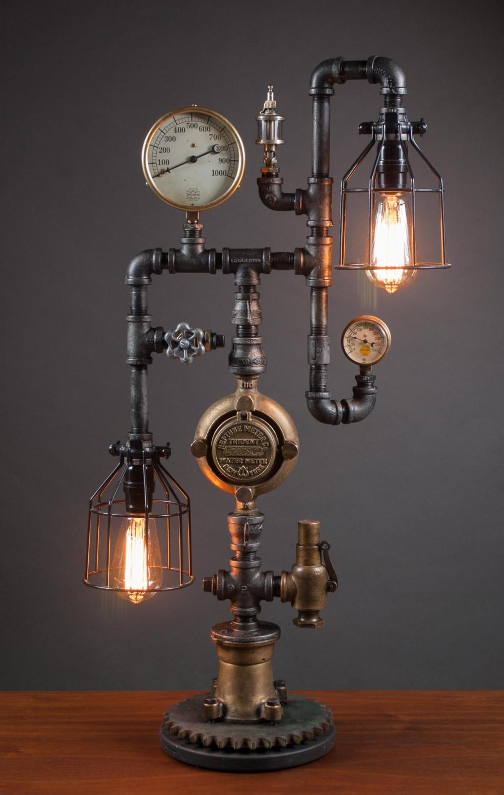 Lot 4: STEAMPUNK LAMP, GLENN SCHEUBREIN (Lake Oswego, Ore