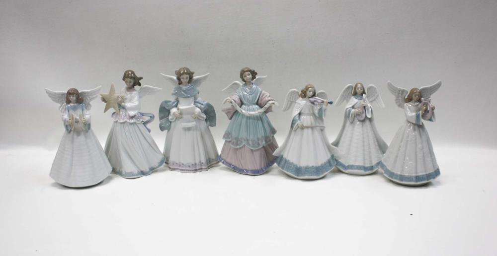 """Lot 9: SEVEN LLADRO PORCELAIN FIGURINES: """"Angelic Melody"""