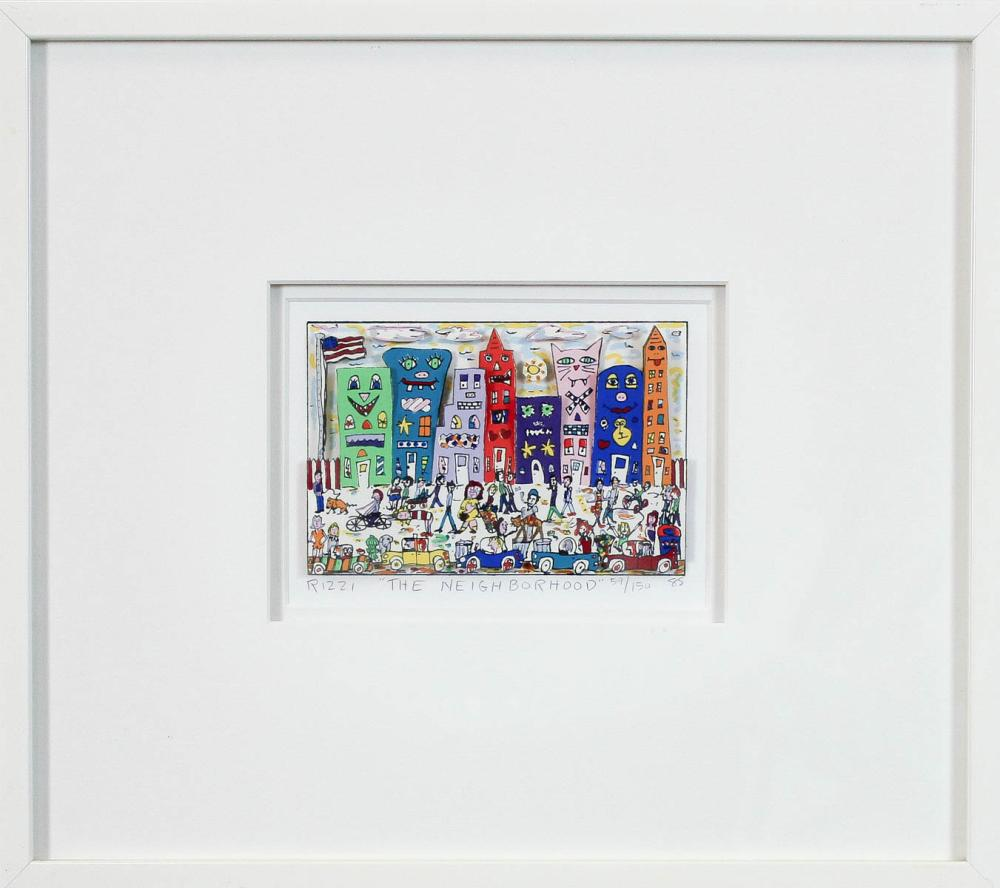 Lot 20: JAMES RIZZI (New York, 1950-2011) 3-D print on pap