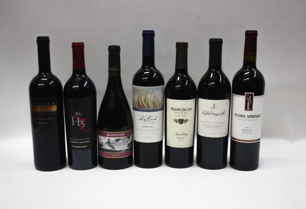 Lot 29: EIGHTY-TWO BOTTLES OF VINTAGE CALIFORNIA RED WINE: