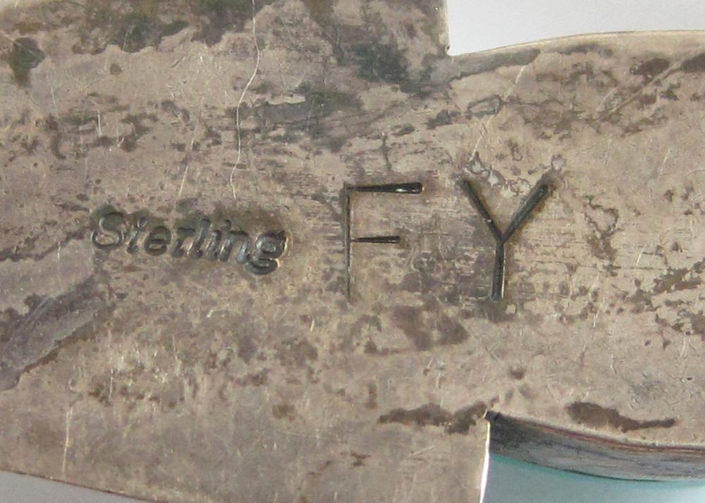Lot 38: FRANK YAZZIE (NAVAJO) SQUASH BLOSSOM NECKLACE, hav