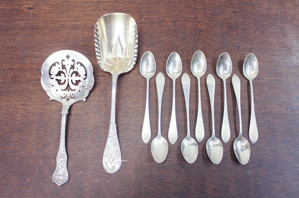 Lot 56: ELEVEN TIFFANY & CO. STERLING SILVER FLATWARE PIEC