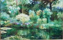 Lot 51: ALAN COTE (20th century) oil on canvas, landscape