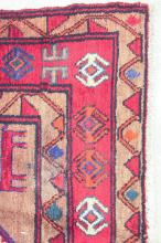 Lot 64: HAND KNOTTED PERSIAN TRIBAL RUG, triple geometric