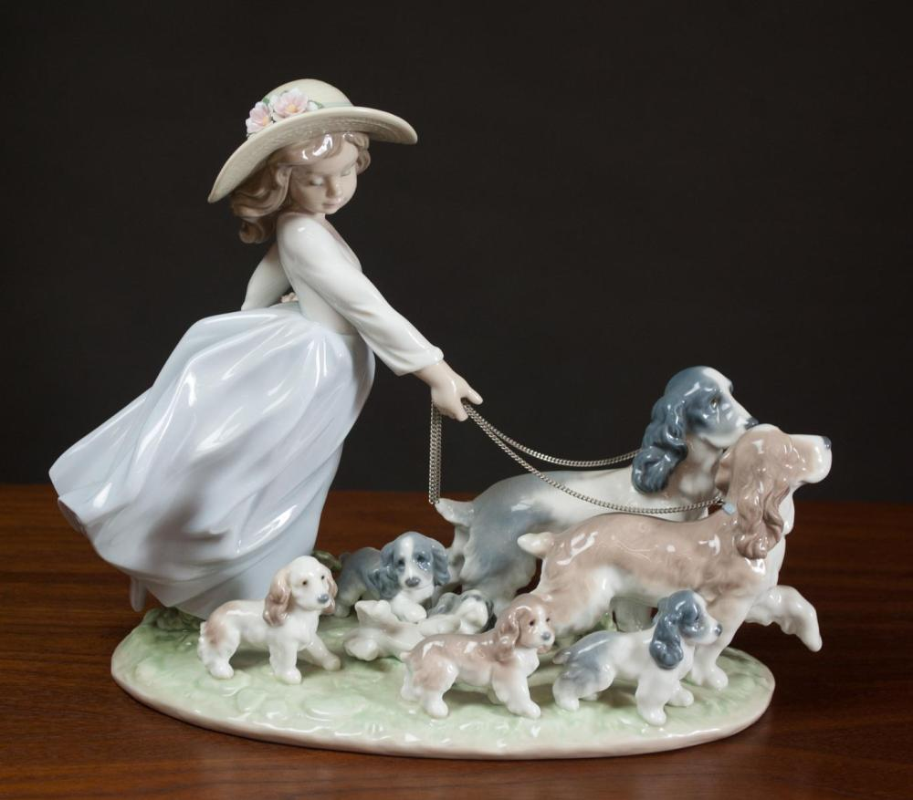 """Lot 83: LLADRO """"PUPPY PARADE"""" PORCELAIN FIGURAL GROUP, #67"""