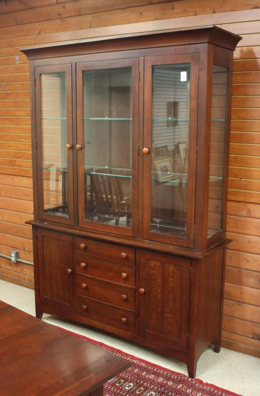 Lot 78: SHAKER STYLE CHERRY CHINA HUTCH, Kincaid Furniture