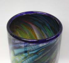 Lot 95: THREE CONTEMPORARY ART GLASS VESSELS, including 1