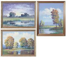 Lot 101: THREE CLYDE LEON KELLER (OREGON, 1872-1962) LANDSC
