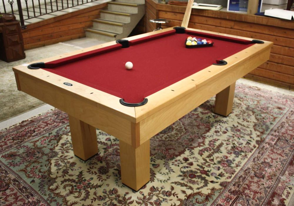 Lot 120: CUSTOM POOL TABLE WITH ACCESSORIES, Golden West Bi