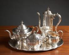 Lot 138: FIVE PIECE TIFFANY & CO. STERLING SILVER COFFEE &T