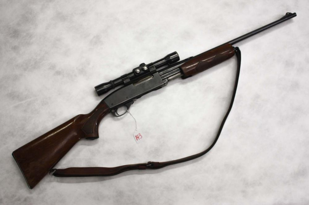 Lot 143: REMINGTON MODEL 760 SLIDE ACTION RIFLE, 30-06 cali